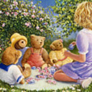 Afternoon Tea Poster by Susan Rinehart