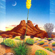 Agave Bloom Poster by Snake Jagger