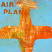 Airplane Poster by Laurie Breen