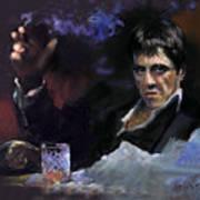 Al Pacino Snow Poster by Ylli Haruni