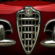Alfa Red Poster by Douglas Pittman