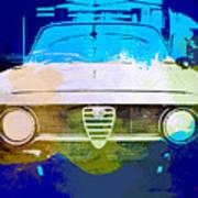 Alfa Romeo Watercolor Poster by Naxart Studio