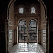 Alhambra Window Poster by Jane Rix