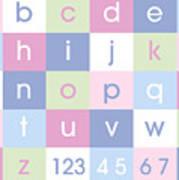 Alphabet Pastel Poster by Michael Tompsett