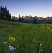 Alpine Dawn Poster by Mike  Dawson