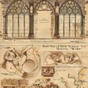 Altar Screen Beverly Minster East Riding Yorkshire England 1883 Poster by Gibbons Sankley