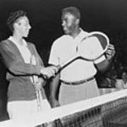 Althea Gibson 1927-2003 And Jackie Poster by Everett