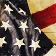 America Flag Pattern Postcard Poster by Setsiri Silapasuwanchai