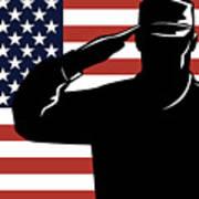American Soldier Salute Poster by Aloysius Patrimonio