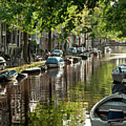 Amsterdam Canal Poster by Joan Carroll