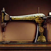 Antique Singer Sewing Machine Poster by Kelley King