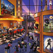 Ants At The Movie Theatre Poster by Robin Moline