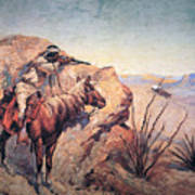 Apache Ambush Poster by Frederic Remington