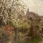 Apple Blossom Poster by Alfred Muhlig