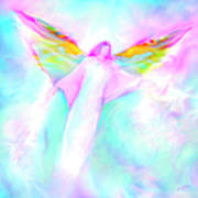 Archangel Gabriel In Flight Poster by Glenyss Bourne