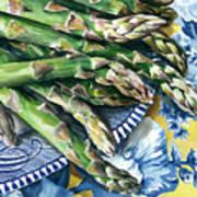 Asparagus Poster by Nadi Spencer