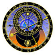 Astronomical Clock Poster by Michal Boubin