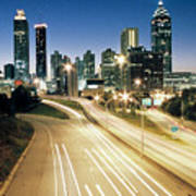 Atlanta Skyline Poster by Jason Vanhoy