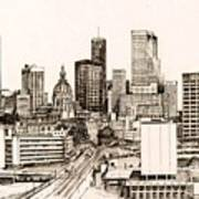 Atlanta Skyline Poster by Pamir Thompson