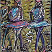 Atomic Ballet Poster by Robert Wolverton Jr
