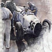 Auto Union B Type 1935 Italian Gp Monza B Rosermeyer Poster by Yuriy  Shevchuk