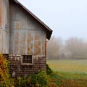 Autumn Barn Poster by Jill Battaglia