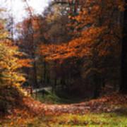 Autumn Landscape Poster by Artecco Fine Art Photography