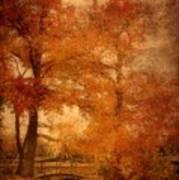 Autumn Tapestry - Lake Carasaljo Poster by Angie Tirado