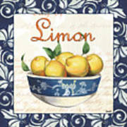 Azure Lemon 3 Poster by Debbie DeWitt