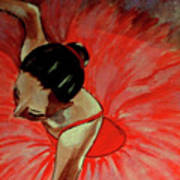 Ballerine Rouge Poster by Rusty Woodward Gladdish