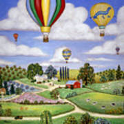 Ballooning In The Country One Poster by Linda Mears
