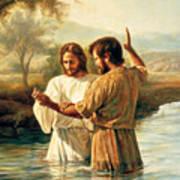 Baptism Of Christ Poster by Greg Olsen