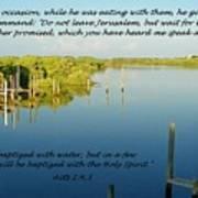 Baptized Poster by Sheri McLeroy