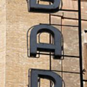 Bar. Neon Writing Poster by Bernard Jaubert