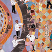 Bar Scene Poster by Jonathan Mandell