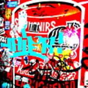 Barcelona Street Graffiti Poster by Funkpix Photo Hunter