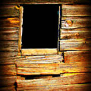 Barn Window Poster by Perry Webster