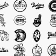 Baseball Logos Poster by Granger