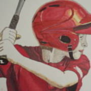 Baseball Ready 2 Poster by Michael Runner