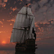 Bateau De Pirate Poster by Steven Palmer