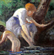 Bathing Poster by Maximilien Luce
