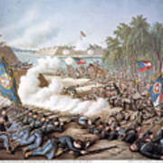 Battle Of Corinth, 1862 Poster by Granger