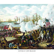 Battle Of New Orleans Poster by War Is Hell Store