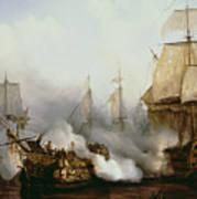 Battle Of Trafalgar Poster by Louis Philippe Crepin