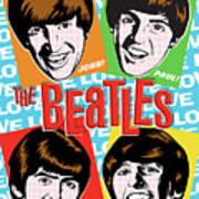 Beatles Pop Art Poster by Jim Zahniser