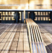 Benches At The High Line Park Poster by Eddy Joaquim
