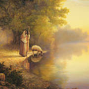 Beside Still Waters Poster by Greg Olsen