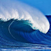 Big Blue Wave Poster by Paul Topp