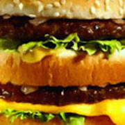 Big Mac - Painterly Poster by Wingsdomain Art and Photography