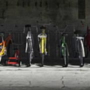 Bike Rack Poster by Cynthia Decker